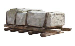 Transporting Stonehenge stones on a sled