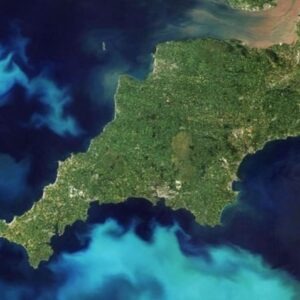 Satellite view of Cornwall